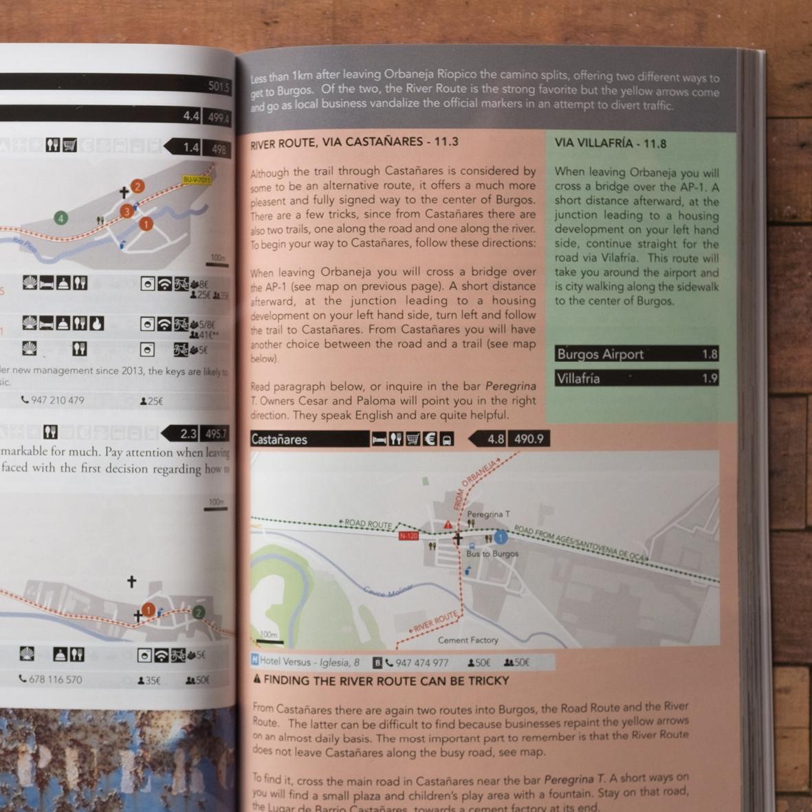 Camino de Santiago Guidebook Detail