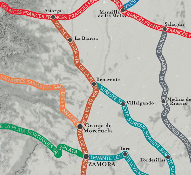 Camino Portugues Karte.The Big Map Of The Camino De Santiago Wise Pilgrim Guidebooks For