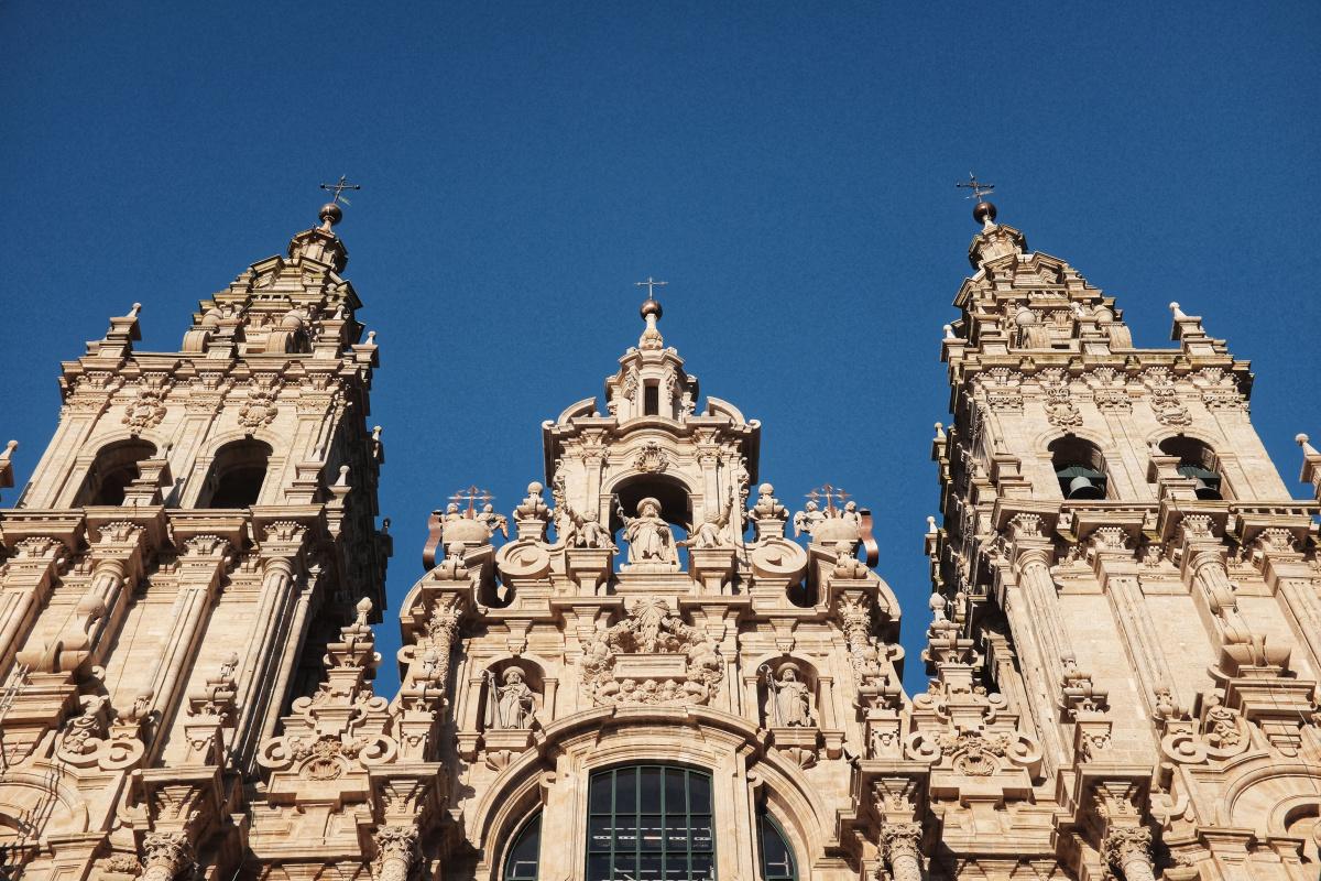 Photo of Santiago de Compostela at the end of the Camino Portugues on the Camino de Santiago