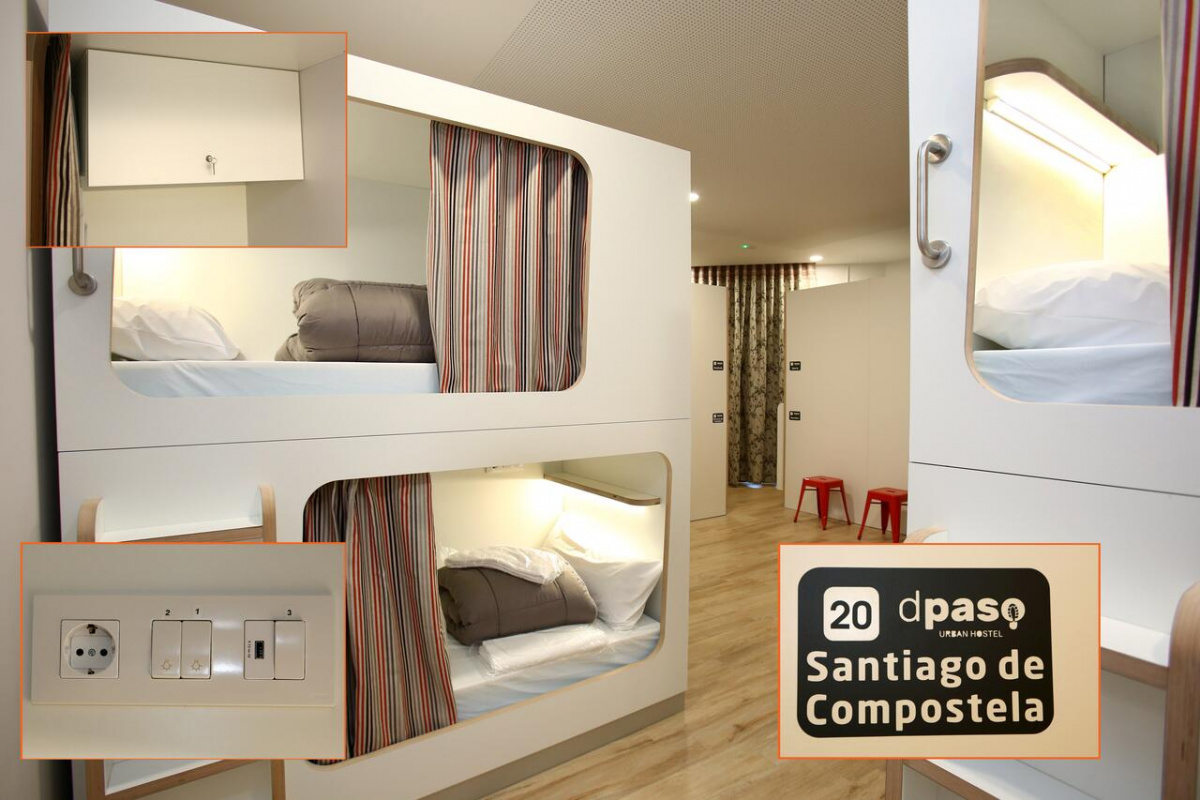 Camino de Santiago Accommodation: dpaso Urban Hostel