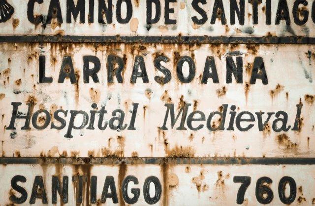 Photo of Larrasoaña on the Camino de Santiago