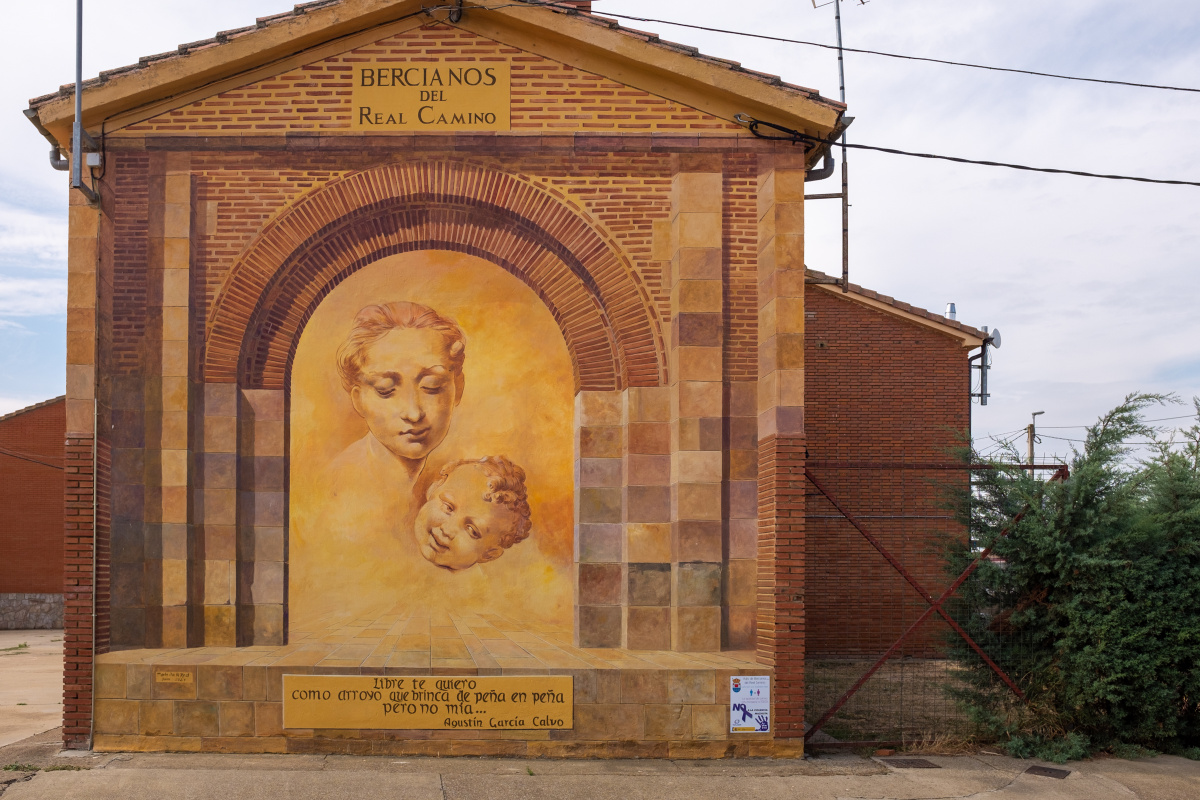 Photo of Bercianos del Real Camino on the Camino de Santiago