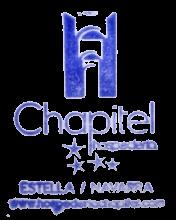 camino de santiago Hotel Chapitel stamp and sello