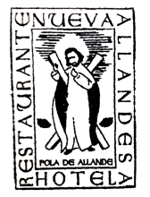 camino de santiago Hotel La Nueva Allandesa stamp and sello