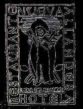 camino de santiago Hotel La Nueva Allandesa stamp and sello