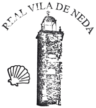 camino de santiago Albergue de la Xunta de Neda stamp and sello
