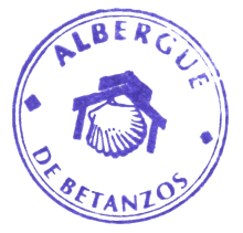camino de santiago Albergue de la Xunta de Betanzos stamp and sello