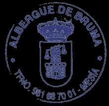 camino de santiago Albergue de la Xunta de Bruma stamp and sello