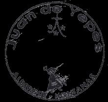 camino de santiago Albergue Juan de Yepes stamp and sello