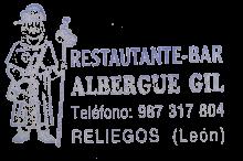 camino de santiago Albergue Gil stamp and sello