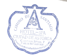 camino de santiago Hotel SPA Ciudad de Astorga stamp and sello
