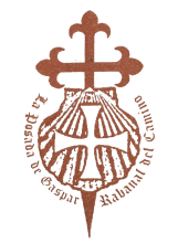 camino de santiago La Posada de Gaspar stamp and sello