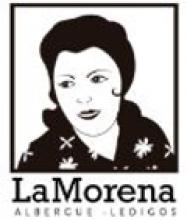 camino de santiago Albergue La Morena stamp and sello