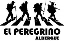 camino de santiago Albergue El Peregrino stamp and sello