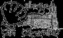 camino de santiago Albergue San Saturnino stamp and sello