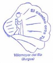camino de santiago Albergue San Luis de Francia stamp and sello
