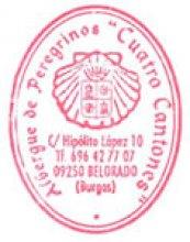camino de santiago Albergue de Peregrinos Cuatro Cantones stamp and sello