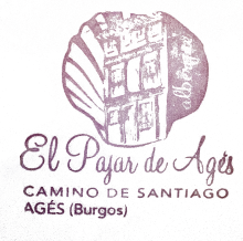 camino de santiago Albergue El Pajar de Agés stamp and sello