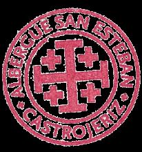 camino de santiago Albergue de San Esteban stamp and sello