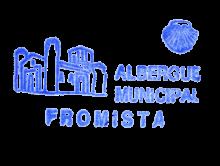 camino de santiago Albergue de Fromista stamp and sello