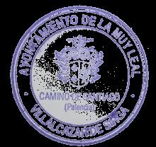 camino de santiago Albergue Villalcázar de Sirga stamp and sello