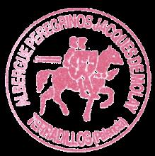 camino de santiago Albergue de Terradillo de los Templarios - Jacques de Molay stamp and sello