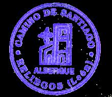 camino de santiago Albergue de Reliegos D Gaiferos stamp and sello