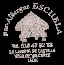 """camino de santiago Albergue """"La Escuela"""" de La Laguna  stamp and sello"""