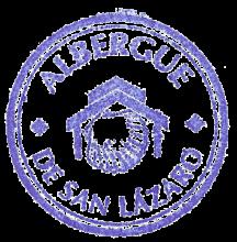 camino de santiago Residencia de Peregrinos San Lázaro stamp and sello