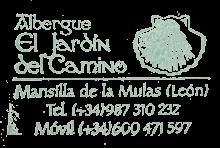 camino de santiago Albergue El Jardín del Camino stamp and sello