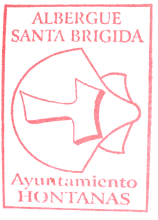 camino de santiago Albergue Santa Brígida stamp and sello