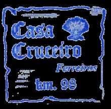 camino de santiago Albergue Casa Cruceiro stamp and sello