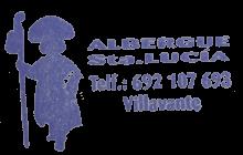 camino de santiago Albergue Santa Lucía stamp and sello