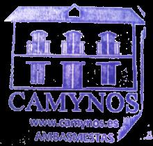 camino de santiago Albergue Camynos stamp and sello