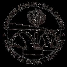 camino de santiago Albergue Amalur stamp and sello