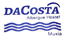 camino de santiago Albergue Da Costa stamp and sello