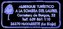 camino de santiago Albergue A la Sombra del Laurel stamp and sello