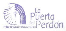 camino de santiago Hostal La Puerta del Perdón stamp and sello